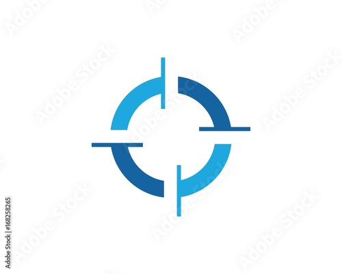 circle focus logo Fototapet