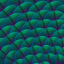 Feather Styled Background With...