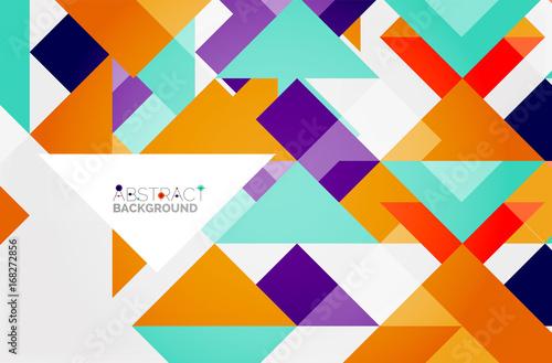 Foto op Aluminium ZigZag Triangle pattern design background