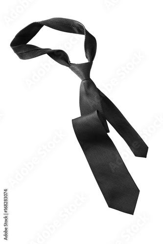 Fototapeta Black necktie isolated obraz