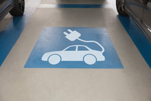 Electric Car Sign In Parking A...