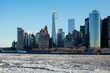 Frozen NYC Skyline; Rare Ice-covered Hudson River; Winter Polar Vortex 2015; Climate Change