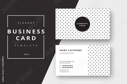 trendy minimal abstract business card templates modern corporate