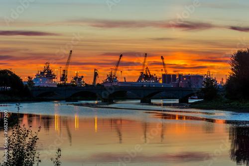 Sunrise at Aberdeen. Canvas Print