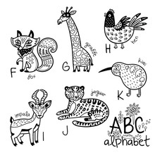 Animals Alphabet F - K For Chi...
