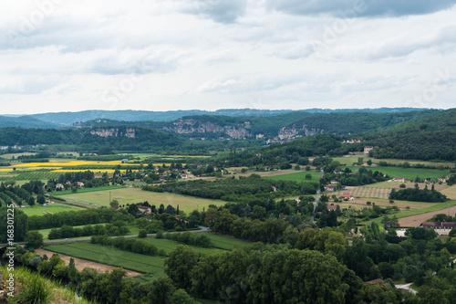 Spoed Fotobehang Rijstvelden Serie Dordogne Frankrijk, Domme