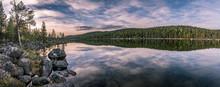 Panorama Of Calm Lake At Lapla...