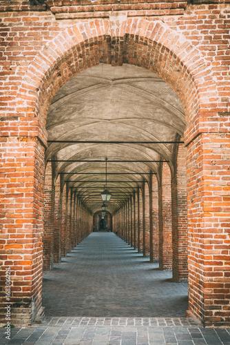 Arches in Sabbioneta, Italy Canvas Print