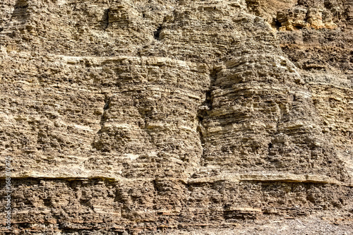 Fotografija  Layers of sedimentary sandstone rock