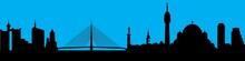 Vector City Skyline Silhouette...
