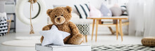 Big Teddy Bear In Girly Room