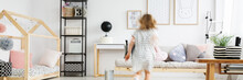 Blurred Figure Of Girl Playing