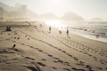 Sunrise On Copacabana Beach