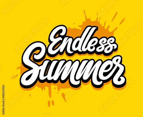 Valokuva Vector hand written lettering Endless Summer