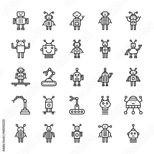 Fotografia, Obraz  Robotic Vector Line Icons