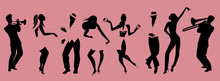 Silhouettes Of People Dancing ...