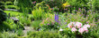Leinwandbild Motiv Blick in den schönen Garten Panorama