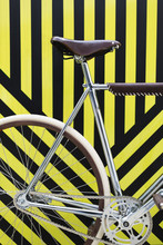 Bicycle On Black And Yellow St...
