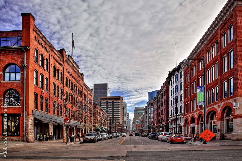 Fototapety, obrazy: 17th Street, Downtown, Denver, Colorado