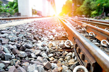 Railroad Tracks, Railway, Track, Rail