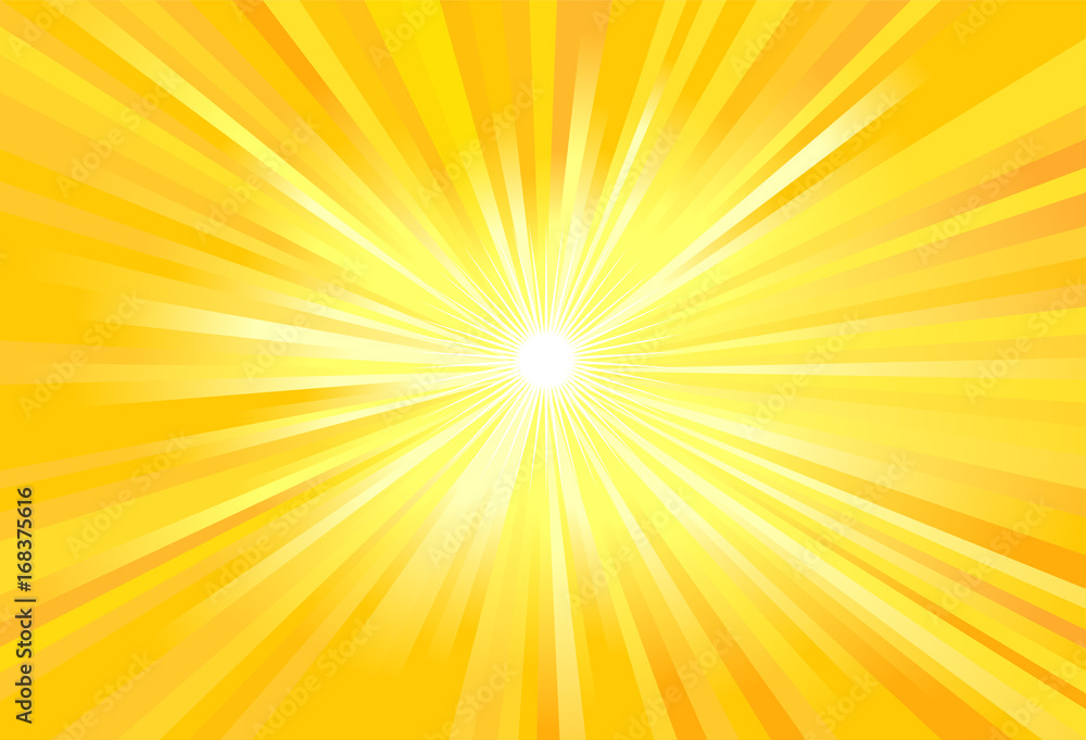Fototapeta Sun light rays vector image