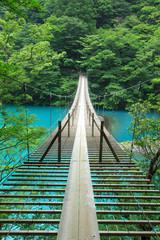 Panel Szklany Podświetlane Do pokoju chłopca 静岡、寸又峡の夢の吊り橋