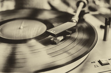 Sepia Vintage Record Player