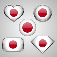 Japan Flag Icon Theme. Vector ...