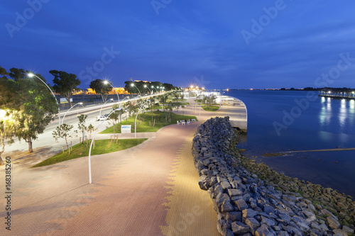 Promenade in Huelva, Spain