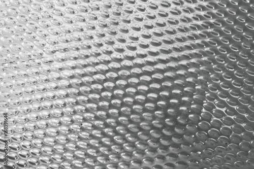 Fotografija  Texture Background of Matalic Silver Plate with Convex