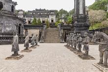 Tomb Of Khai Dinh Emperor In Hue, Vietnam. A UNESCO World Heritage Site