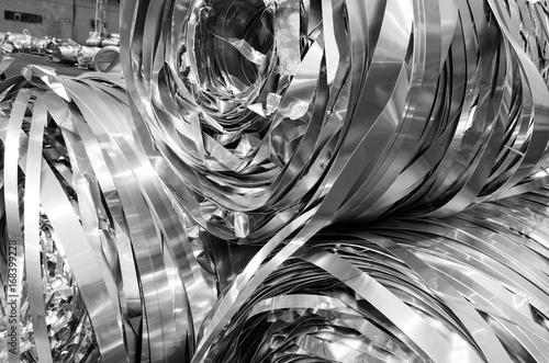 Fotografie, Obraz  aluminum strips to melt