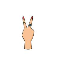 Pop Art Style Hand Sticker