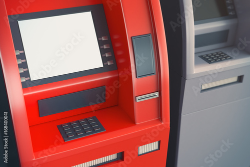 Fotografia, Obraz ATM with empty screen