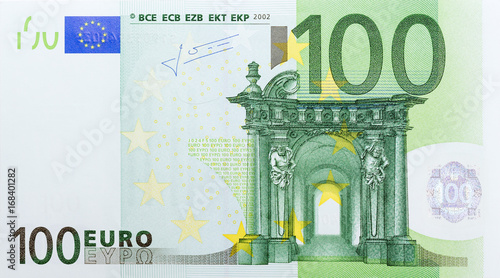 Fotografia  Banknote in one hundred euro.