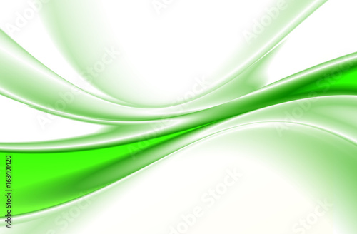 Abstract background, green fantasy lines,
