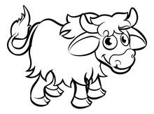 Yak Cartoon Character