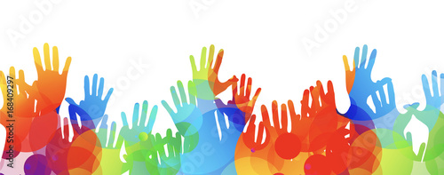 mani, comunità colori Canvas Print