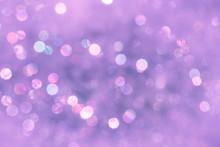 Violet Blurred Background With Bokeh Lights
