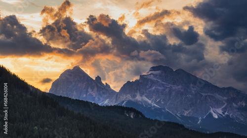 Foto op Plexiglas Alpinisme Tramonto sulle Tofane