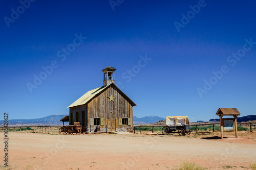 Old cowboy ranch in Utah. History of the Wild West