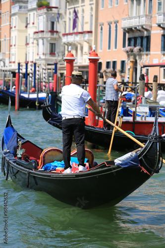 Foto op Canvas Gondolas Gondole à Venise, Italie