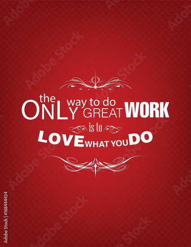 Photo  Love what you do poster
