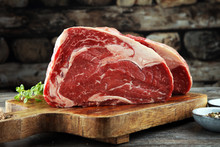 Raw Fresh Meat Ribeye Steak, S...