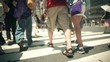観光、intersection、walking、traffic jam、Office worker、Businessman、Attendance、crosswalk、Tokyo、Japan、横断歩道、歩く、足元、雑踏、渋谷、Shibuya、