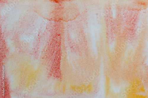 Spoed Foto op Canvas Weg in bos Red and yellow watercolor abstract