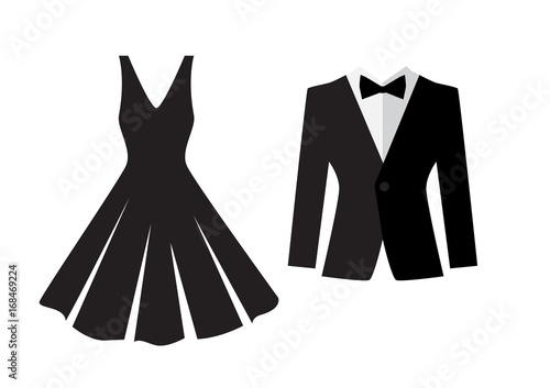 Fotografia  Dress and suit icon isolated