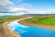 Scenery Of Shannon River In Ir...