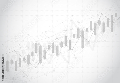 Fotografía Business candle stick graph chart of stock market investment trading on dark background design