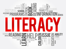 Literacy Word Cloud Collage, E...